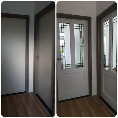 Voor en Na situatie deuren met glas