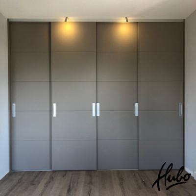 Complete schuifwandkast 4 moderne stijldeuren