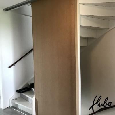 Scheidingswand 1e en 2e verdieping